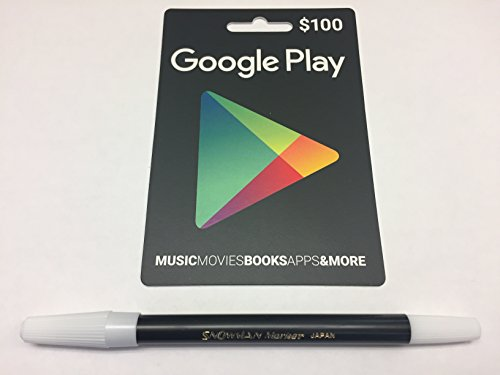BUNDLE: Google Play $100 Prepaid Card AND Snowman Pencil Marker by Unknown
