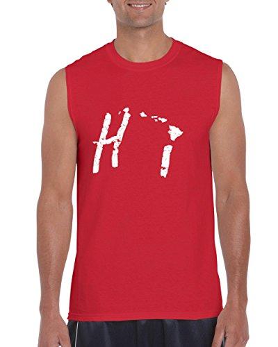 NIB Hawaii Islands Maui Kauai OAHU Kona Hilo Big Island Men Ultra Cotton Sleeveless T-Shirt (Kona Cotton Wholesale)