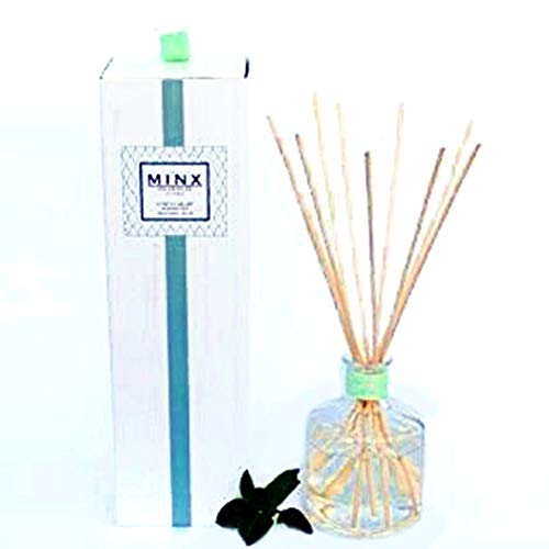 MINX Fragrances Stress Relief Rosemary Mint Aromatherapy Oil Reed Diffuser Gift Set | Garden Mint, Rosemary, Eucalyptus Leaves & Citrus | Great Idea for All