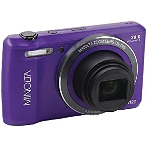Minolta(r) Mn12z-P 20.0-Megapixel Hd Wi-Fi(r) Digital Camera (purple) by MINOLTA