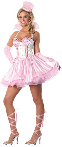 [Playboy Bunnylicious Costume, Pink, Medium] (Candy Woman Costumes)