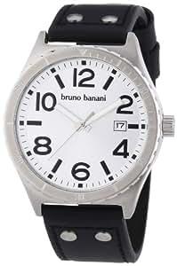 Bruno Banani BR21021 - Reloj analógico de cuarzo para hombre con correa de piel, color negro
