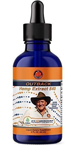 Hemp Extract 540 with OptiVida HempSorb® | Full Spectrum High Potency | 15x More Bio-Available | Equivalent to 8,100mg of Competing Hemp Extracts | USA Organically Grown Premium Hemp | 540mg, 60mL