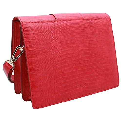 Fastening Style Handbag Red Buckle Abro Messenger 0q6w805