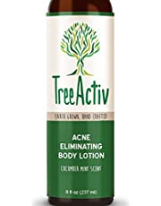 TreeActiv Acne Eliminating Body Lotion 8 fl oz | Clears Body, Back, Butt and Shoulder Acne | Anti-Acne Moisturizer | Prevents Future Breakouts | Cucumber Mint Scent