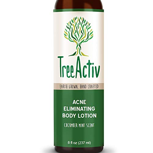 TreeActiv Acne Eliminating Body Lotion 8 fl oz, Clears Body, Back, Butt and Shoulder Acne, Anti-Acne Moisturizer, Prevents Future Breakouts, Cucumber Mint Scent