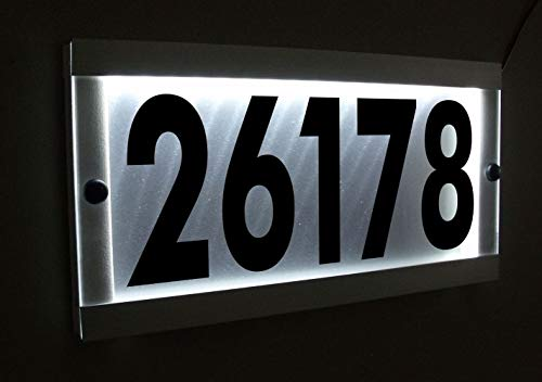 Custom LED Lighted Address Sign Illuminated House Number Address Plaque Aluminum Waterproof ()