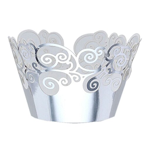 Tinksky Cupcake Wrappers Holders Wedding