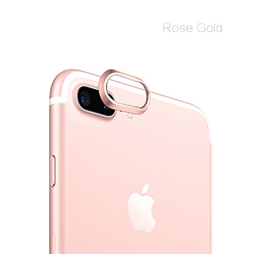 TitanFan Camera Lens Protective Case Cover for Apple iPhone 7 Plus 5.5 Inch (Rose Gold)