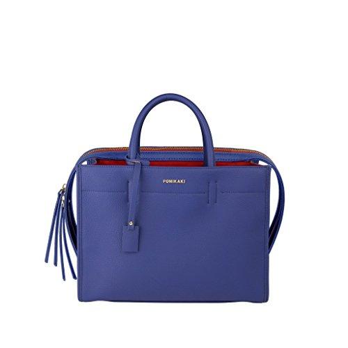 Pomikaki - Bolso de asas para mujer 32x24,5x11 Azul Size: 32x24,5x11 turquesa