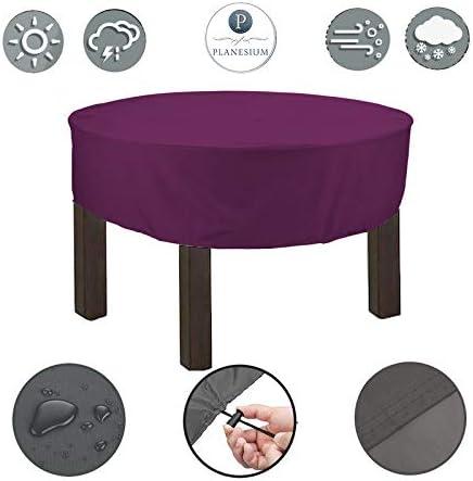 Planesium Premium – Cubierta para mesa de jardín redonda cubierta cubierta cubierta protectora conjunto muebles de jardín juego resistente transpirable impermeable: Amazon.es: Hogar