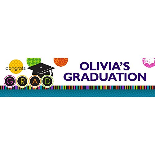 Colorful Graduation Personalized Banner (Each)