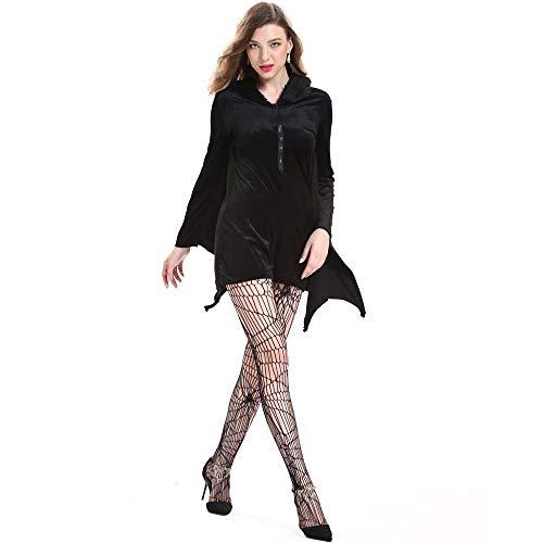 LOVELONG European and American Halloween Costumes Cosplay Sexy Vampire Female Batman Costume (4XL, Black) -