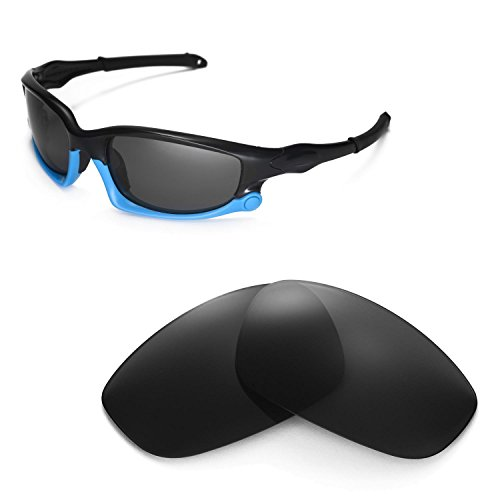 Walleva Replacement Lenses for Oakley Split Jacket Sunglasses - Multiple Options Available (Black - - Jacket Split Lenses Polarized Oakley