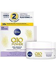 NIVEA Q10 Power Anti-wrinkle + Fragrance-free Moisturizer for Sensitive Skin, 50 mL, Anti-Aging Cream Fights Fine Lines & Wrinkes, NIVEA Face Cream Leaves Skin Noticeably Firmer