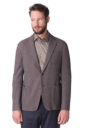 Armani Collezioni Linen Blazer Jacket Size 54 / 2XL Unlined Notch Lapel Gray