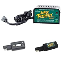 Battery Tender Plus with LCD Voltage Display and USB Charger Bundle