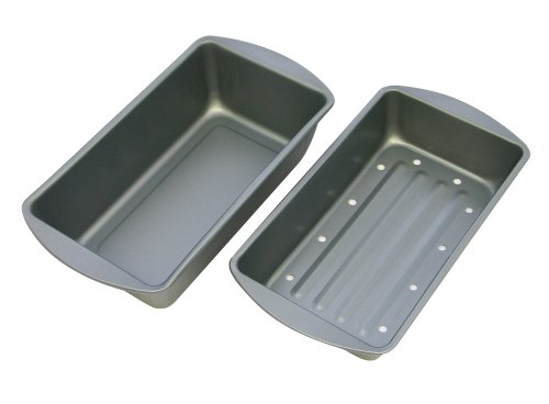 G&S Metal Products OvenStuff Non-Stick 9 1/4-Inch X 5 1/4-Inch X 2-Inch Meatloaf Pan with Fat-A-Way Insert HG61