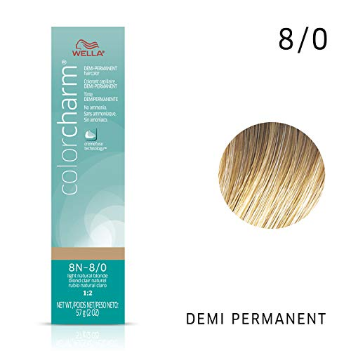 Wella Color Charm Demi 8n Light Natural Blonde, 2 oz. (Demi Hair Color Blonde)
