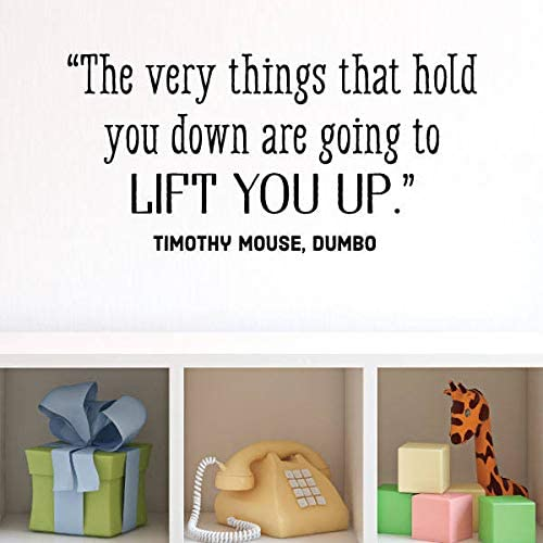 com wall quote decal lift you up timothy mouse dumbo