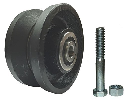 Mapp Caster Sliding Barn Door Cast Iron Wheel Kit, 3'' x 1.5'' with 3/8'' Smooth & Quiet Ball Bearings by Mapp Caster