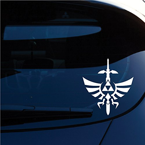 Zelda Triforce with Sword Decal Sticker for Car Window, Laptop, Motorcycle, Walls, Mirror and More. (6