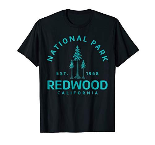 Redwood California National Park TShirt - Camping Hiking Tee (Best Camping In Redwood National Park)