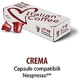 200 capsule ItalianCoffee Caffè Crema compatibili Sistemi Nespresso* (10 cps.* 20 astucci)