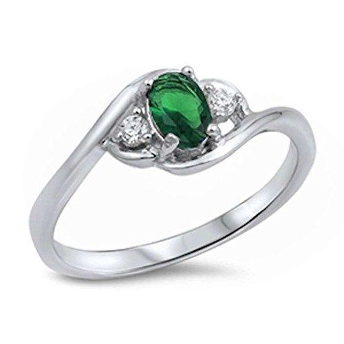 diamond and emerald ring - 5