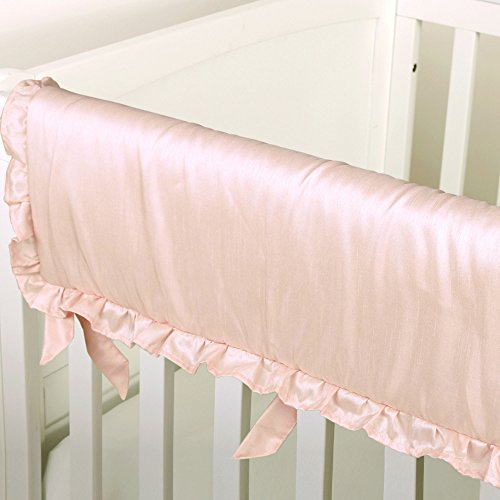 Arianna Pink Padded Crib Rail Guard by The Peanut Shell by The Peanut Shell