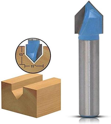 GENERICS LSB-Werkzeuge, 1 stück 8mm Schaft 90 Grad V Form Fase Schaftfräser Fräser for Holzbearbeitung 3D Fräser