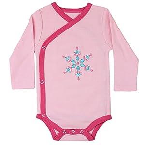 juDanzy wrap around kimono style and pullover baby girl bodysuits