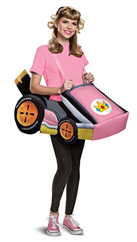 Disguise Women's Peach Kart Adult Costume, Pink, One Size]()