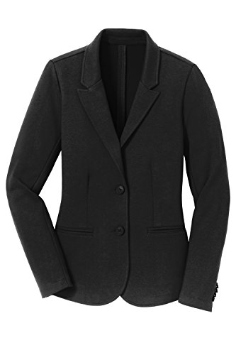 Ponte Knit Blazer (YogaColors Womens's Crystal Casual Work Solid Knit Blazer Including Plus Size)