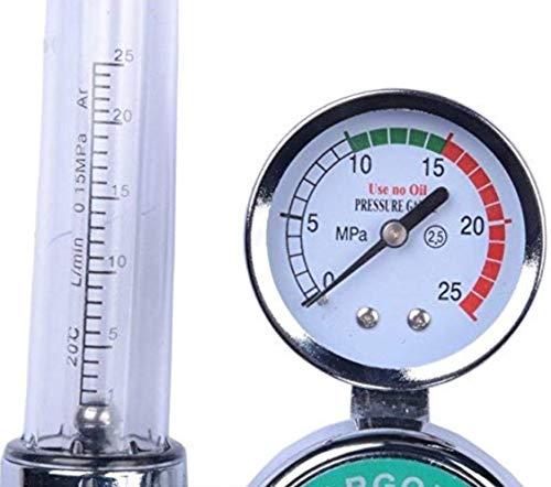 0 to 25 MPA Pressure Gauge CGA580 Inlet Connection Gas Welder Welding Regulator with Built-In Flow Meter Manatee Argon Regulator With Flowmeter TIG Welder MIG Welding CO2 Regulator 0 to 30 L//MIN