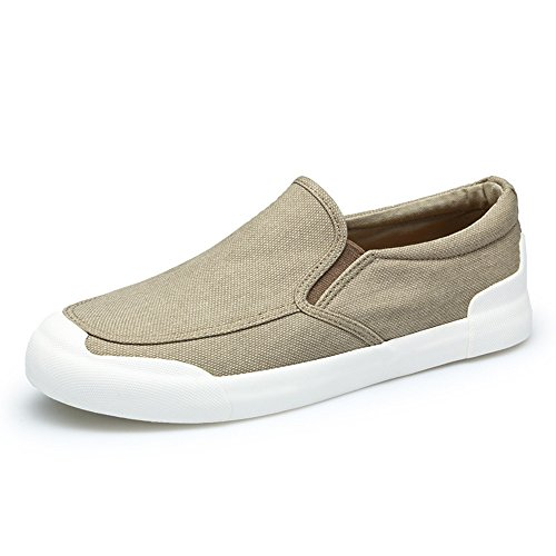 Shoes Fashionable Shoes Men's Summer Lazy Canvas Breathable Khaki wY8F5FAx