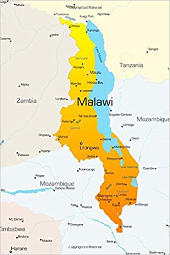 Map Of Malawi Map of Malawi Journal: 150 page lined notebook/diary: Cool Image