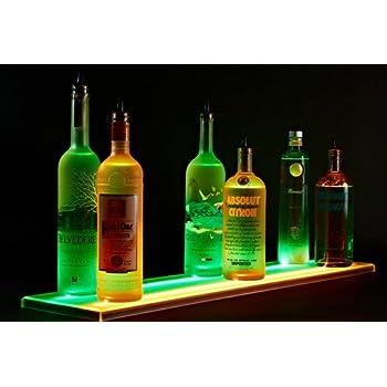 Amazon.com: 34-inch 2 Tier Liquor Bottle Shelf - Mirror Finish ...