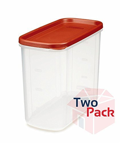 (Rubbermaid 071691688037 16-Cup Dry Food Container (Pack of 2), Clear)