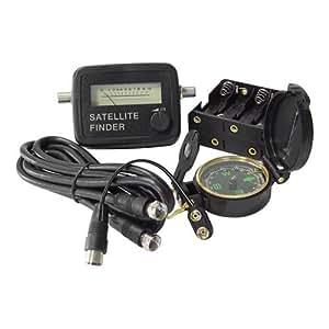 Profesional Satelitenfinder conjunto de Satelitenanlagen de calibración con la brújula