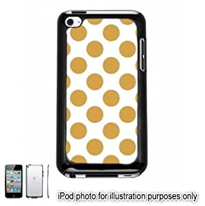 Gold Polka Dots Apple iPod 4 Touch Hard Case Cover Shell Black 4th Generation hjbrhga1544