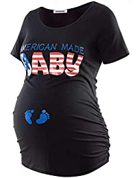 0b43aadaab132 Short Sleeve Maternity Tops Shirts Floral Ruched Sides Casual Mama Pregnancy  Blouses Clothes