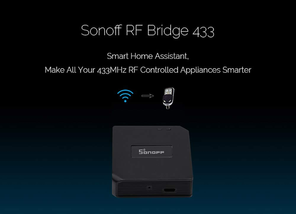 Sonoff RF Bridge WiFi 433 MHz Replacement Smart Home Automation Universal Switch Intelligent Domotica Wi-Fi Remote RF Controller - - Amazon.com
