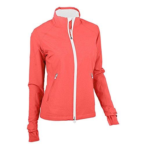 Womens Original Windshirt - Zero Restriction Women's Abbey Wind Jacket, Coral Crush, Medium