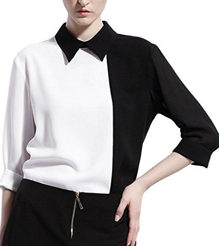 Persun Sleeve Pointed Collar Contrast