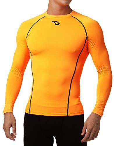 Defender Men Compression T Shirt Under Hombre Tights Football OK_S