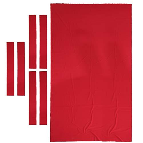 Baosity Professional Pool Table Felt Snooker Billiard Table Cloth Felt for 9ft Table - Red ()