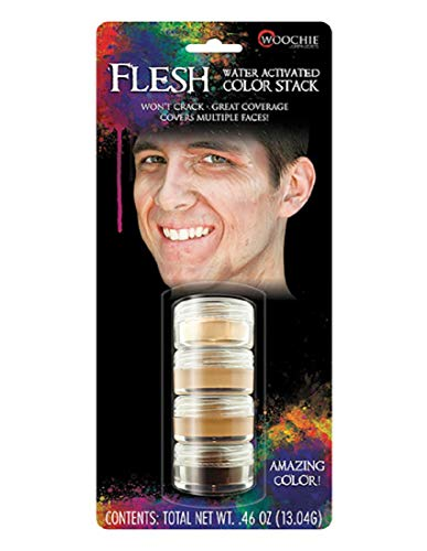 Eye Makeup For Halloween Men (Woochie Water Activated Makeup Stack - Professional Quality Halloween and Costume Makeup -)