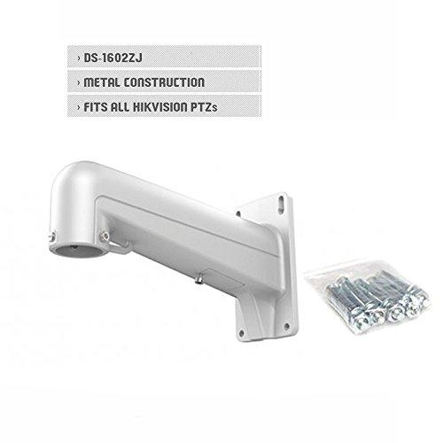 SaferCCTV(TM) DS-1602ZJ Hikvision Bracket Outdoor Indoor Wall Mount Bracket Aluminum Alloy For Hikvision Dome PTZ Camera DS-2DE7182-A DS-2DE7174 DS-2DF8223I-AEL(W)