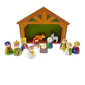 Children\'s Kit creche de noel Décoration de jardin en bois ...